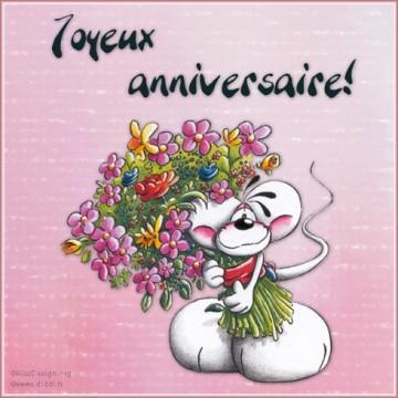 Bon anniversaire ma cherie for Bouquet de fleurs humour